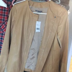 Vince. Genuine camel leather jacket M